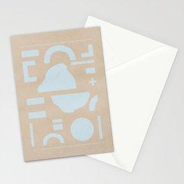 Flat lay minimal shapes Stationery Cards