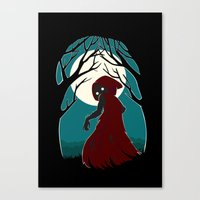 red riding hood Canvas Prints featuring Red Riding Hood 2 by Freeminds