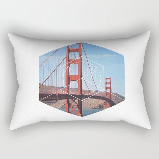 Golden Gate Bridge - Geometric Photography Rectangular Pillow