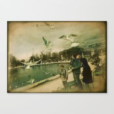 Feeding the Birds Canvas Print