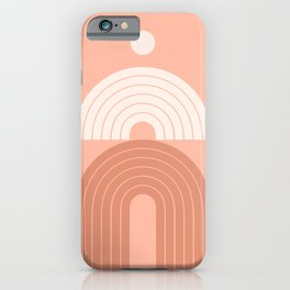 Abstraction_VISUAL_LINE_ART_Bohemian_Minimalism_003A iPhone Case