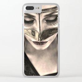 Neqab Portrait Clear iPhone Case
