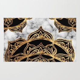 Gold Lace on Marble Rug