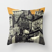 cityscape Throw Pillows featuring Cityscape by Chris Lord