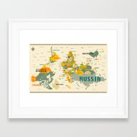 world map Framed Art Prints featuring World Map by Jazzberry Blue