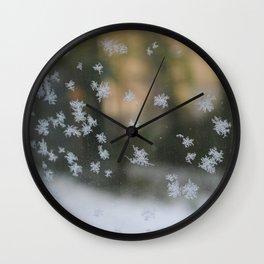 "It's frosty ""Ice Flower"" #1 #art #society6 Wall Clock"