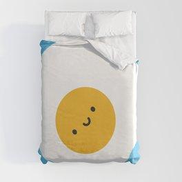 Kawaii Fried Egg Duvet Cover