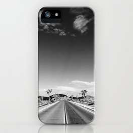 Wanderlust photograph Joshua Tree California open road, film iPhone Case