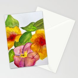 Hibiscus Flowers Stationery Cards