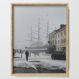 The Clipper in the snow Serving Tray