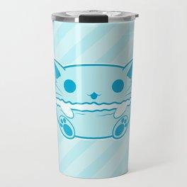 Blue Kawaii Cat Macaroon Travel Mug