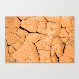 Cracked Terrain in Morocco Canvas Print
