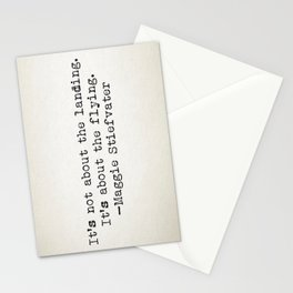 """""""It's not about the landing. It's about the flying."""" -Maggie Stiefvater Stationery Cards"""