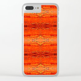 Orange Aztec Pattern 2 | Corbin Henry Clear iPhone Case