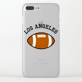 Los Angeles American Football Design black lettering Clear iPhone Case