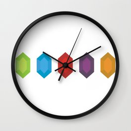 Rupees Please Wall Clock