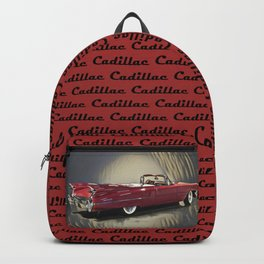 Classic 1959 Red Cadillac Convertible Backpack