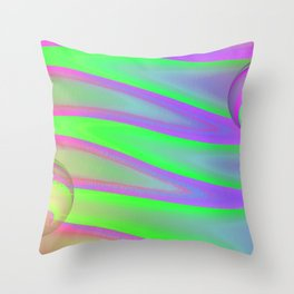 Colors swimming on grey Throw Pillow