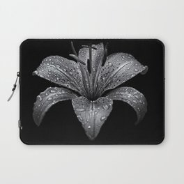 Backyard Flowers In Black And White 8 Laptop Sleeve