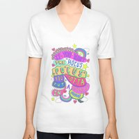 hocus pocus V-neck T-shirts featuring If You Want The Hocus Pocus You Gotta Put A Payment In Focus by Saif Chowdhury