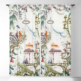 Enchanted Forest Chinoiserie Blackout Curtain