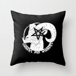 Sinners are Winners Throw Pillow