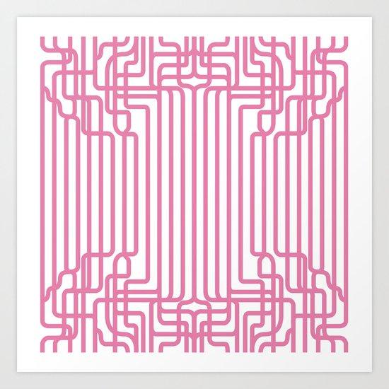 rockabilly lines Art Print