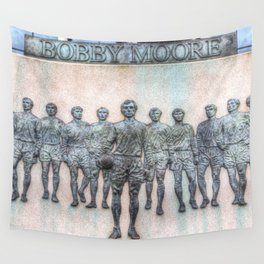 Bobby Moore Statue England 1966 Wall Tapestry