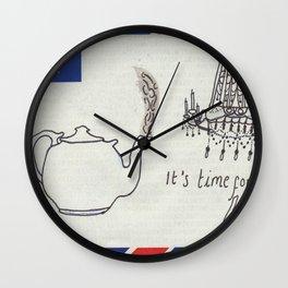 A Parisian, British Tea Wall Clock