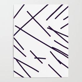 Design lines blue on white Poster