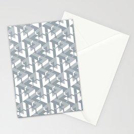 Triangle Optical Illusion Gray Medium Stationery Cards