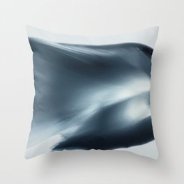 Monochromatic Ink Wave Square Throw Pillow