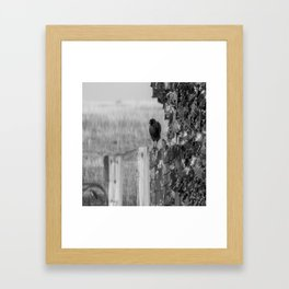 Walk the Line B&W Framed Art Print