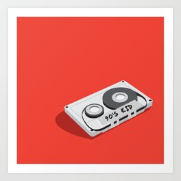 90's Kid Cassette Tape Illustration Art Print