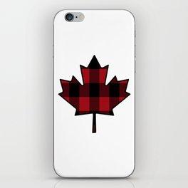 Plaid Maple Leaf iPhone Skin