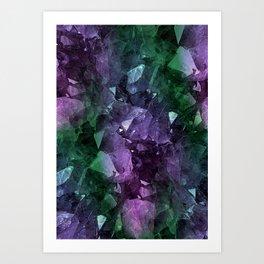 Crystal Geode Art Print