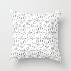 Flowers Pattern I Throw Pillow