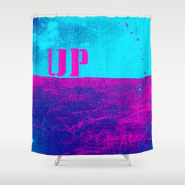 UP pink: over and under earth and sky Shower Curtain