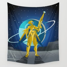 space suit science fiction soldier Wall Tapestry