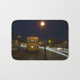 Porto Night Tram Bath Mat