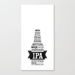 A beer is worth a thousand words - IPA Canvas Print