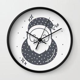 Santa Claus with a moon hat Wall Clock