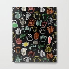 Kitchen Teapots - Multi by Andrea Lauren Metal Print