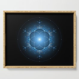 Ice space | Sacred geometry Serving Tray