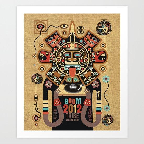 Mayas Spirit - Boom 2012 Art Print