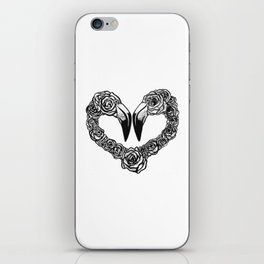 Flamingo Heart iPhone Skin