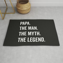 Papa The Man The Myth Funny Quote Rug