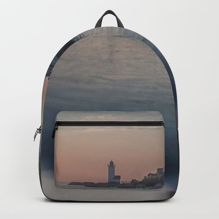 Annisquam sunset though a Crystal Ball Backpack