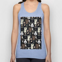 Bears of the world pattern Unisex Tank Top