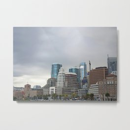 Downtown San Francisco, Changing Skyline Metal Print